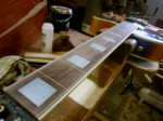 Re-finishing fretboard